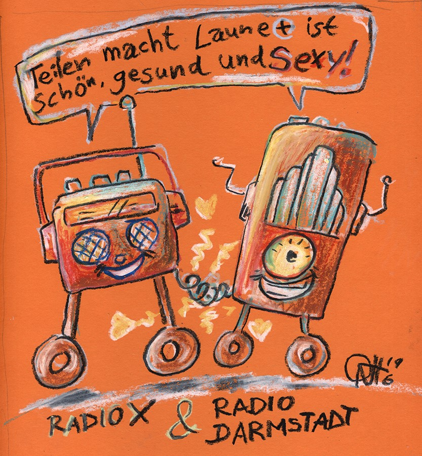 cartoon DABplus radio x radar